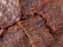 Vista próxima da carne de porco espasmódica Imagem de Stock