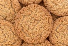 Vista próxima de cookies da crosta de torta da maçã imagens de stock