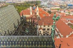 Vista a Praga del centro Fotografia Stock
