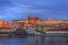 Vista a Praga del centro Immagine Stock