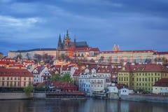Vista a Praga del centro Fotografie Stock
