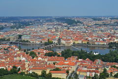 Vista Praga della città Fotografia Stock