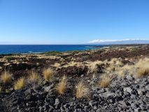 Vista praia e litoral do owali no Manini 'na ilha grande, Havaí foto de stock royalty free