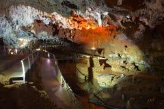 Vista principal de la cueva de Soplao imagen de archivo libre de regalías
