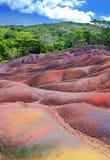 Vista principale degli sbarchi di Isola Maurizio-Chamarel-sette-colore Fotografie Stock