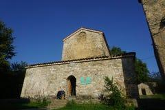 Vista principale della chiesa del monastero di Nekresi fotografia stock libera da diritti