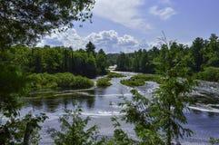 Vista profonda al fiume fotografia stock