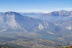 Vista profonda nella valle di Sarca Immagine Stock