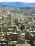 Vista prolongada de Bogotá, Colômbia Imagens de Stock