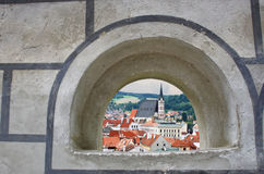 Vista przez okno Zdjęcia Royalty Free