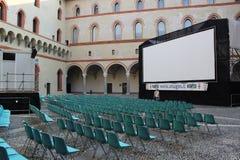 Vista pubblica di evento della riunione a Milano Italia Fotografia Stock