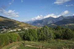 Vista Pyrenees Mont-Louis imagem de stock