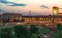 Vista quadrada no crepúsculo Foto de Stock Royalty Free