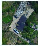 Vista que traça o dji aéreo imagem de stock