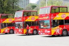 Vista que vê o ônibus Fotos de Stock Royalty Free