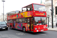 Vista que vê o ônibus Imagem de Stock Royalty Free