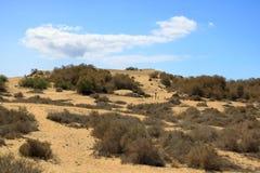Vista a?rea de las dunas de Maspalomas en la isla de Gran Canaria imagenes de archivo