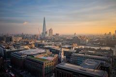 Vista a?rea de Londres, Reino Unido fotos de archivo libres de regalías