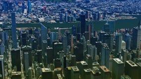 Vista a?rea de Nueva York almacen de metraje de vídeo