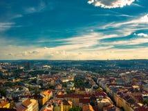 Vista a?rea de Praga foto de archivo