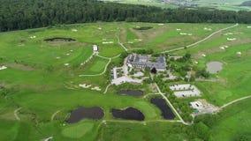 Vista a?rea del campo de golf metrajes