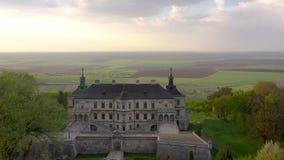 Vista a?rea del castillo de Pidhirtsi, Ucrania metrajes