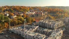 Vista a?rea del emplazamiento de la obra en la ciudad de Vilna, Lituania metrajes