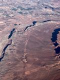 Vista a?rea del paisaje del desierto fotos de archivo
