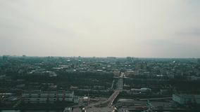 Vista a?rea del puerto de Odesa metrajes
