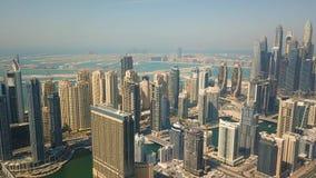 Vista a?rea do distrito do porto de Dubai video estoque