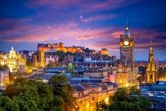 Vista a?rea do monte do calton, Edimburgo, Reino Unido foto de stock royalty free