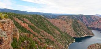 Vista of Red Canyon in Flaming Gorge, Utah Royalty Free Stock Photos