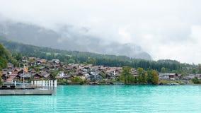 Vista región del lago Brienz, Interlaken en Suiza Fotos de archivo