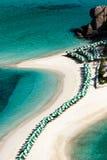 Vista regional da praia fotos de stock royalty free