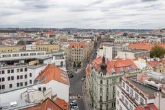 Vista regional de Praga da torre fotografia de stock royalty free