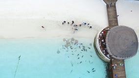 Vista regional del centro turístico de Maldivas Imagen de archivo