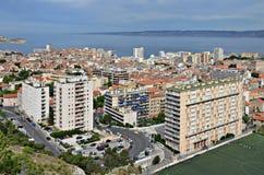 Vista regional del puerto de Marsella Foto de archivo