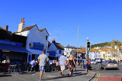 Vista Regno Unito della via di Hastings Fotografie Stock
