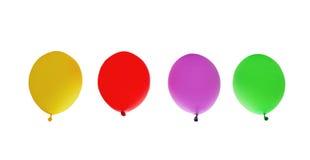 A vista, rende de balões ou de bolas infláveis de borracha transparentes brilhantes de ar da cor Fotografia de Stock