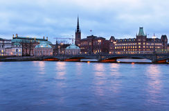 Vista a Riddarholmen en Estocolmo Fotos de archivo libres de regalías