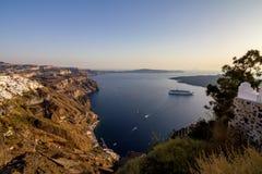 Vista romântica de Fira, Santorini, Grécia foto de stock