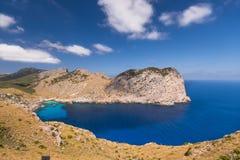 Vista romantica della baia Formentor fotografie stock libere da diritti