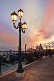 Vista romantica di Venezia al tramonto Fotografia Stock