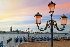 Vista romantica di Venezia all'alba Fotografia Stock