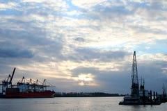 Vista romantica il porto - serie Fotografia Stock Libera da Diritti