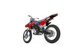 Vista rosso- della coda della bici della sporcizia immagini stock libere da diritti