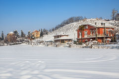 Vista rural invernal Imagens de Stock