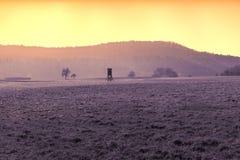 Vista rurale artistica del paesaggio in Baviera Immagine Stock Libera da Diritti