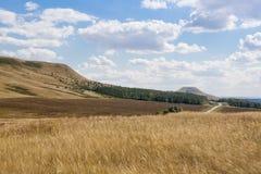 Vista rurale sul campo e sulle colline Immagine Stock