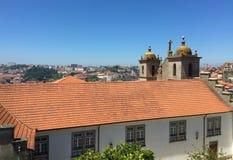 Vista S della cattedrale di Oporto Portogallo fotografie stock